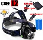 CREE XM-L2 LED 4000LM Алюминий Аккумуляторная Увеличить Фар Фары cree   2 х 18650 6800 мАч Аккумулятор   ЗАРЯДНОЕ Устройство   автомобильное зарядное устройство