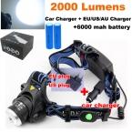 Cree XML T6 светодиодный 3000LM аккумуляторная cree led Headlight Фар light   Зарядное Устройство/Автомобильное зарядное устройство/2x18650 6800 мАч батареи