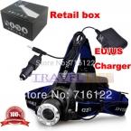 3000Lm CREE XM-L XML T6 СВЕТОДИОДНЫЕ Фары Перезаряжаемые Фара (от 2*18560 батарей)   Зарядное устройство   автомобильное зарядное устройство