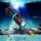 3800Lm Погружения 80 М XM-L L2 Водонепроницаемый Подводный СВЕТОДИОДНЫЙ Фонарик Дайвинг Кемпинг Lanterna Факел Лампы С Бесступенчатой регулировки яркости