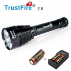 1 ШТ. Trustfire TR-J18 Фонарик 5 Режим 8000 Люменов 7 XCREE XM-L T6 СВЕТОДИОДНЫЙ Водонепроницаемый Высокой Мощности Факел с 3*26650 Аккумулятор   зарядное устройство