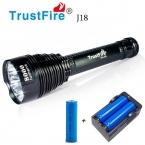 1 ШТ. Trustfire TR-J18 Фонарик 5 Режим 8000 Люмен 7 Х CREE XM-L T6 СВЕТОДИОДНЫЙ Водонепроницаемый Факел Поставляются с 3*18650 Аккумулятор   Зарядное Устройство