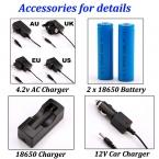 1 компл. зарядное устройство для фонарик или фары с AC / DC   18650   зарядное устройство