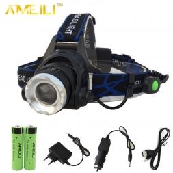 3500 Люмен Фары Масштабируемые XML T6 СВЕТОДИОДНЫЙ Увеличить Фар Головного света лампы Фонарик Факел   18650 батарея   автомобиль USB AC Зарядное Устройство