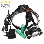 Boruit RJ-5000 3 * L2 СВЕТОДИОД 9000LM Фары USB Power bank Аккумуляторная Фар Свет Лампы Фонарик Факел   Зарядное Устройство 18650 Батареи