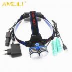 6000LM 2 * XML-T6 LED18650 AA AAA Фара Фара Головная Лампа Велосипед Свет Фонарик Факел   2x18650 батареи   автомобиля AC USB Зарядное Устройство