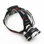 Boruit RJ5000 9000 lumen 3 * XML-L2 LED Аккумуляторная Фары Фара Фара Свет для зарядки мобильного телефона.