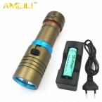 3800Lm Погружения 80 М XM-L L2 Водонепроницаемый Подводный СВЕТОДИОДНЫЙ Фонарик Дайвинг Кемпинг Lanterna Факел Лампы   18650   зарядное устройство