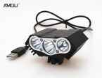8000lm LED 3 * XM-L T6 LED 5 В Передняя Велосипед Велоспорт Лампы Велосипед свет лампы USB 4 Режим Фонарик факел фар