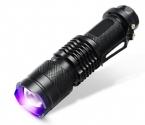 CREE LED УФ Фонарик SK68 Фиолетовый Фиолетовый Свет УФ 395nm Лампы бесплатная доставка