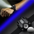 Черный портативный Мини-Фонарик, Как Часы Lanterna Светодиод USB Для Зарядки Фонари Кемпинг EDC Факел Flash Light Ручной Фонарь