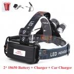 Набор 5000 люмен 3XT6 Headlight фар 3x XML T6 СВЕТОДИОДНЫЕ Фары фара с 2*18650 Аккумулятор и AC/автомобильное Зарядное Устройство