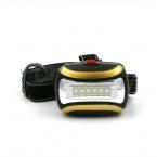 Желтый Мини 3 Режима 6 СВЕТОДИОДНЫЙ Водонепроницаемый Фонарик на открытом воздухе Фар Фар глава свет лампы Факел Lanterna с Оголовьем, AAA