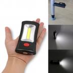 Продажи 2-Mode COB СВЕТОДИОДНЫЙ Фонарик Магнитный Рабочего Складной Крюк Свет Лампы Факел Linternas Lanterna Лампы ИСПОЛЬЗОВАТЬ 3x AAA Батареи