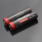 (2 шт./лот) UltraFire Аккумуляторная 3400 мАч 3.7 В защищенный 18650 Литий-Ионные Аккумуляторы с Micro USB интерфейс 18650 Батареи