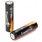 2 шт./лот TrustFire защищенный 18650 3.7 В правда 2400 мАч литиевые аккумулятор перезаряжаемые аккумулятор 18650 для фонарей