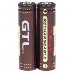 2 шт./лот GTL 18650 защищенный 3.7 В 3000 мАч аккумулятор литий-ионный 18650 для фонарей