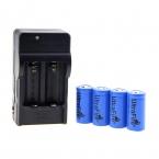 """США Plug UltraFire 16340 Зарядное Устройство ж/4x3.6 В """"1000 мАч"""" 16340 Батареи-Черный"""