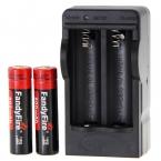 2 шт. FandyFire 3.7 В Аккумуляторная 800 мАч 14500 Батареи Литиевые Батареи   1 * США Штекер Двойной слот 14500 зарядное устройство