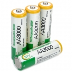 4 шт./лот BTY перезаряжаемые 1.2 В 3000 мАч Ni MH батареек аа никельные аа аккумулятор для фонарей, Игрушки и электронных устройств