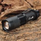Выделите UltraFire мини светодиодный фонарик 910lm SH98 Cree XM-L T6 3-Mode Белый Свет Масштабирование Фонарик-Черный (1x18650)