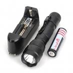 UltraFire WF 502B XM-L2 650lm 3-Mode Фонарик T6 СВЕТОДИОДНЫЙ Фонарик Лампы Белый Свет Факела (1x18650 аккумулятор   зарядное устройство)