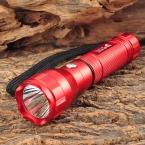 UltraFire 3-Mode 130LM Белый Фонарик-Красный (1 х 18650)