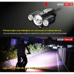 КЛАРУС BK30 Поворотный Фары Велосипед Велоспорт Передний Свет 1280 Люмен CREE XM-L2 U2   2 * XP-G2 СВЕТОДИОДНЫЙ Фонарик С Реле давления