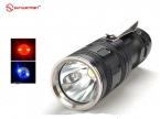 Продажи SUNWAYMAN F10R Красный   Синий   Белый Cree Xm-L2 LED 8000 Люмен Охота Фонарик Torche Фонарик CR123 16340 батареи