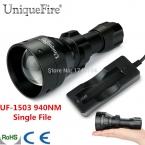 Uniquefire Инфракрасного Ночного Видения Фонарик Один Файл UF1503 ИК 940NM LED Масштабируемые Лампы 50 мм Асферические Линзы   Зарядное Устройство