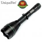 UniqueFire 1508 Cree Фонарик XPE 3 Вт Регулируемый Фокус Увеличить 50 мм Выпуклой Линзы Фонарик Факел Свет Лампы Черный Цвет