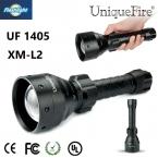 Uniquefire 1405 Масштабируемые Фонарь Освещения CREE XM-L2 СВЕТОДИОДНЫЙ Фонарик 3 Mode Белый Свет Для 2*26650/18650 Бесплатно корабль