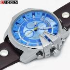 Большой Циферблат Мужчины CURREN Часы Топ Люксовый Бренд Синий кварцевые Военные Наручные Часы Мужчины Часы мужские Часы Relogio Masculino 8176