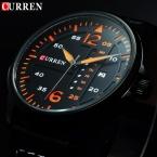 CURREN Мужчины Часы Люксовый Бренд Известный Кожаный Черный Кварцевый Мужские Наручные Часы Русский Военный Curren Часы Мужчины Montre Homme