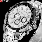 нью-curren часы мужчины лучших люксовый бренд горячая дизайн военно-спортивный наручные часы мужчины цифровые кварцевые мужские полное стали часы