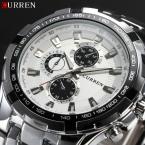 нью-curren часы люксовый бренд кварца мода свободного покроя мужской спортивные часы полный стали военные часы Relogio Masculino