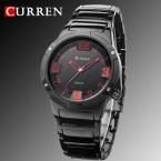нью-curren часы мужчины люксовый бренд военные часы парни весь стали наручные часы мода свободного покроя водонепроницаемый армии спортивные кварцевые