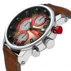 мужские Часы CURREN Марка Роскошные Кварцевые Часы Моды Натуральная Кожа Часы Мужчины Часы relogios masculinos reloj hombre