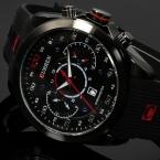 CURREN Luxury Brand Военные Часы Резины Моды Кварцевые Мужчины Повседневная Часы Календарь Дата Работа 30 М Водонепроницаемый Наручные Часы