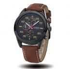 Часы мужчины подлинная Curren  новый горячий деловой человек смотрит световой открытый спортивные наручные часы с высокое качество кожаный ремешок