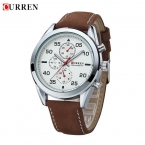 Новая Мода Оригинальный Бренд CURREN Мужские Швейцарские Часы Спортивные Часы Кварцевые Часы Часы Часы Кожаный Ремешок Мужчины Наручные Часы
