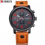 нью-curren мода бизнес кварцевые часы мужчины спортивные часы бренд военные часы мужчин кориум кожаный ремешок армии наручные часы