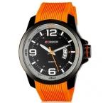 Кварцевые свободного покроя часы мужчины человек мода стиль резина часы часы мужская черный часы relogio CURREN марка relojes мужчины наручные часы