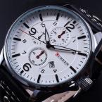 Новинка мужские часы CURREN военная спортивные часы мужчины люксовый бренд кожаный ремешок кварцевые часы relogio masculino мужчины часы