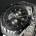 Relogio masculino   CURREN Марка Полная Сталь Спортивные Часы Мужчины Luxury Brand Кварцевые Военные Спортивные Часы мужские Наручные Часы