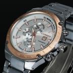 часы мужчины люксовый бренд CURREN кварцевые часы мужские полное стали наручные часы погружения 30 м мода спортивные часы relogio masculino