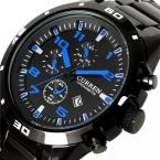 Curren  Спорт Кварцевые Часы Отображения Даты мужские Часы мужская Мода Часы Из Нержавеющей Стали Мужчины Повседневная Наручные Часы