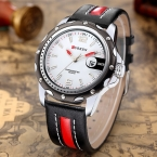 CURREN  Натуральная Кожа Часы Мужчины Luxury Brand Кварцевые Часы Аналоговый Дисплей Даты Случайные Часы Мужчины Часы relogio feminino