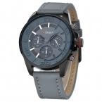 Прибытие Curren Часы Моды для Мужчин Кварцевые Часы Кожаные Часы Для Мужчин Роскошный Корпус Из Сплава Кожаный Ремешок Военные Часы relogio
