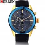 новое поступление CURREN человек кварцевые часы, Военное движение водонепроницаемый наручные мужские свет ночью наручные часы relogio masculino